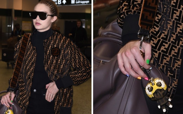 Rainbow nails di Gigi Hadid