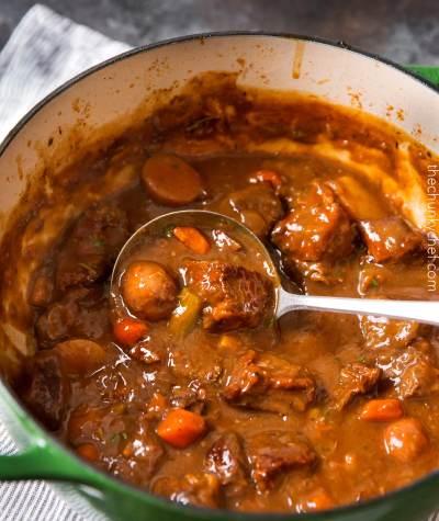 Guinness and Coffee Irish Beef Stew - The Chunky Chef