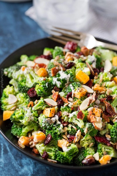 Cranberry Almond Broccoli Salad - The Chunky Chef