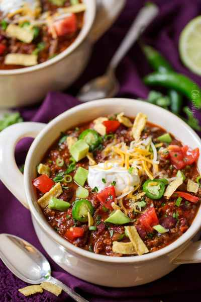 Classic Beef and Bean Slow Cooker Chili - The Chunky Chef
