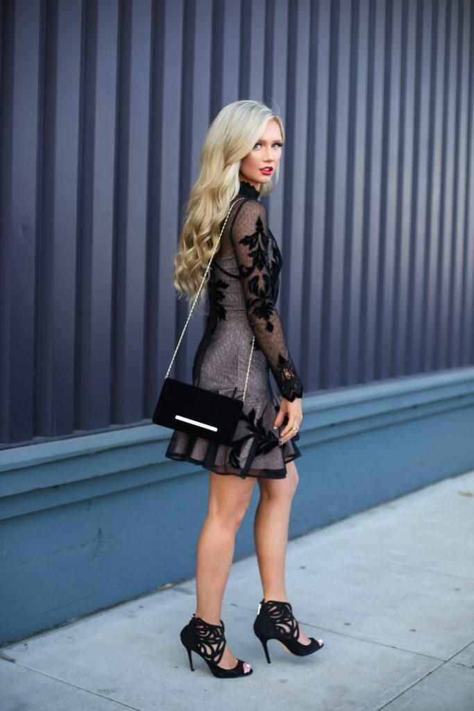 Stephanie-Danielle-TheCityBlonde-Black-Lace-Dress-6559