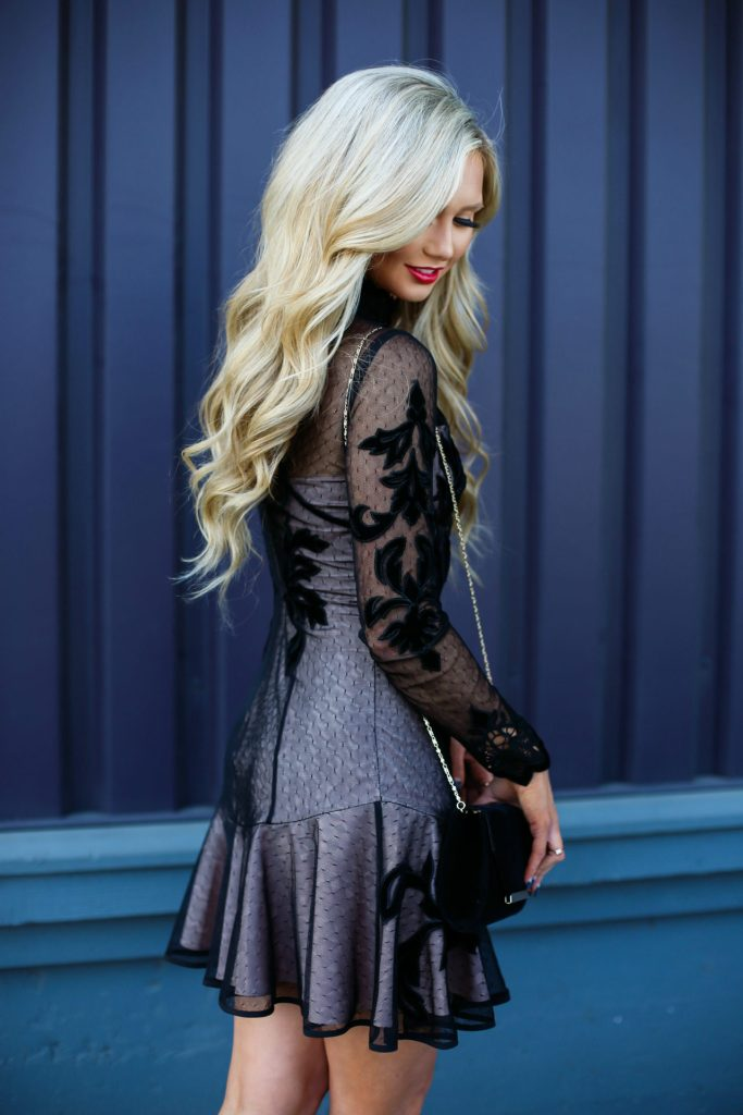 Stephanie-Danielle-TheCityBlonde-Black-Lace-Dress-6708