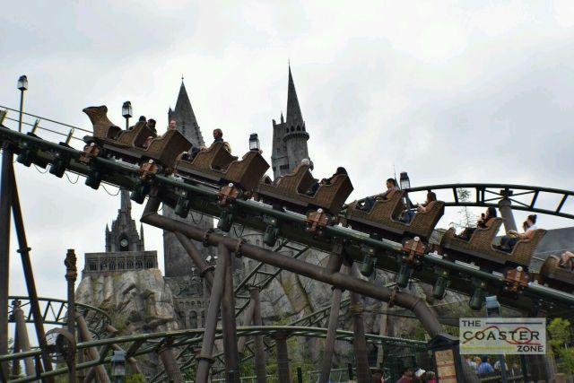 Flight of the Hippogriff es la primera montaña rusa exterior para toda la familia de Universal Studios Hollywood.