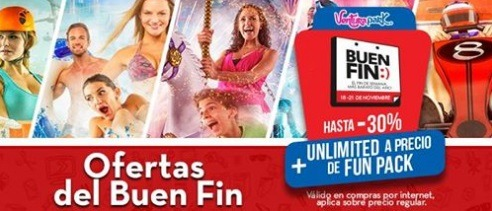 """La admisión """"UNLIMITED"""", realizando la compra en línea, desde: $1,023 pesos en el parque de Cancún."""