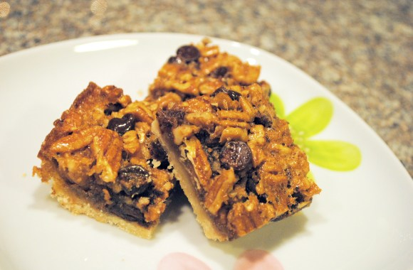 chocolate pecan bars recipe