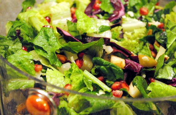 winter chopped salad pomegrate