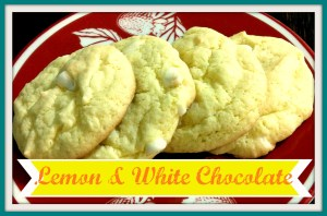 Lemon Cookies with White Chocolate Chips