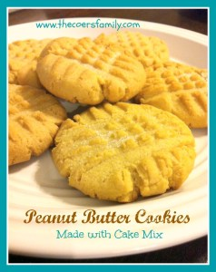 cake mix peanut butter cookies