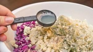 making No Pasta Salad