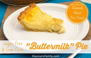 """Low Carb, Sugar Free """"Buttermilk"""" Pie - Trim Healthy Mama friendly! from thecoersfamily.com"""
