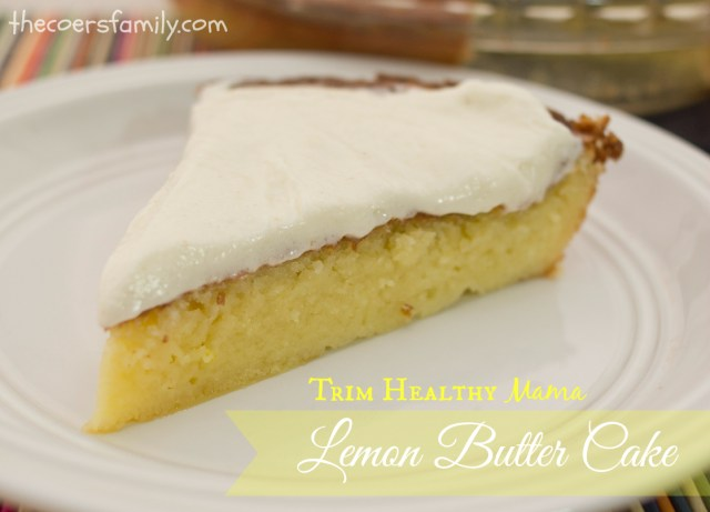 Trim Healthy Mama Lemon Butter Cake