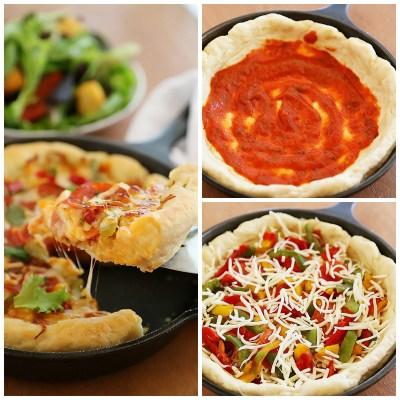 Easy Skillet Deep Dish Pizza
