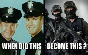police militarized