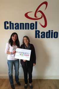 Laura Burton-Lawrence and Darrienne Price in the Channel Radio Studio