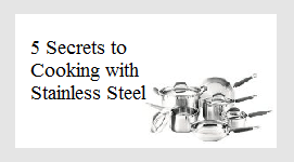 cooking with stainless button