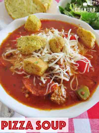 Pizza Soup - The Country Cook