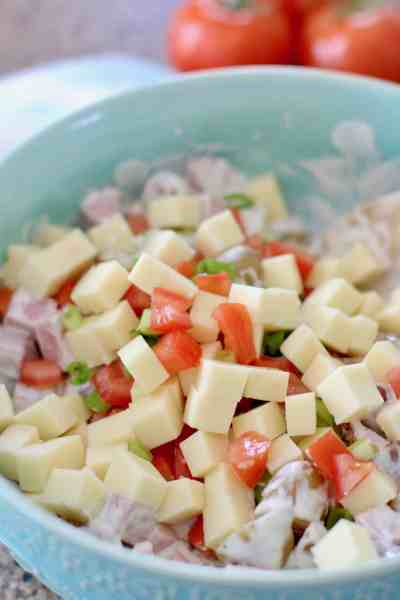Potato and Ham Salad - The Country Cook