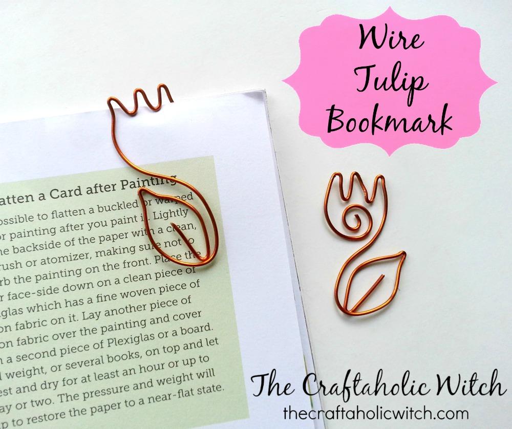 Create Cute Wire Tulip Bookmarks