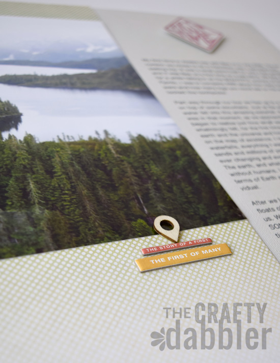 """A two page layout using AE Story Stamps & Story Kit """"Firsts"""""""