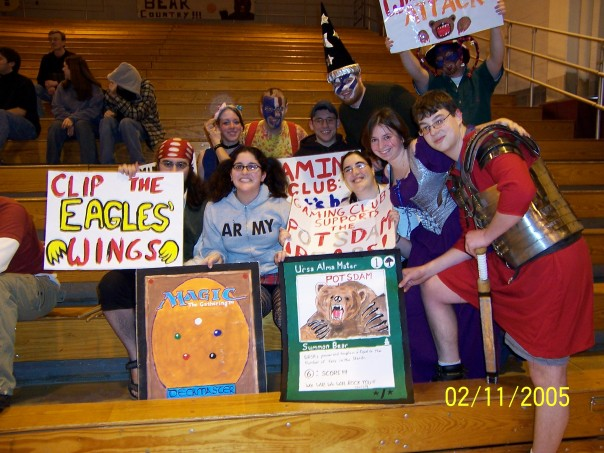 Most of SUNY Potsdam's Gaming Club, from early 2005.  Ahh, those were the days...