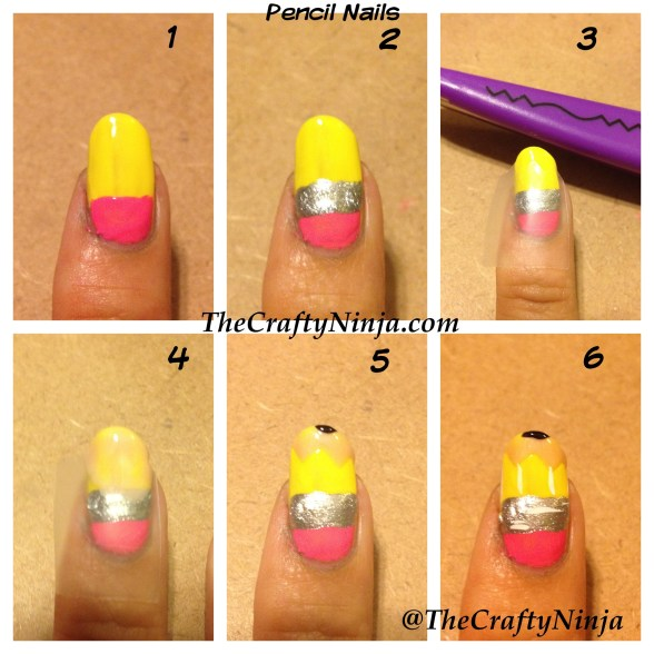 pencil nails diy