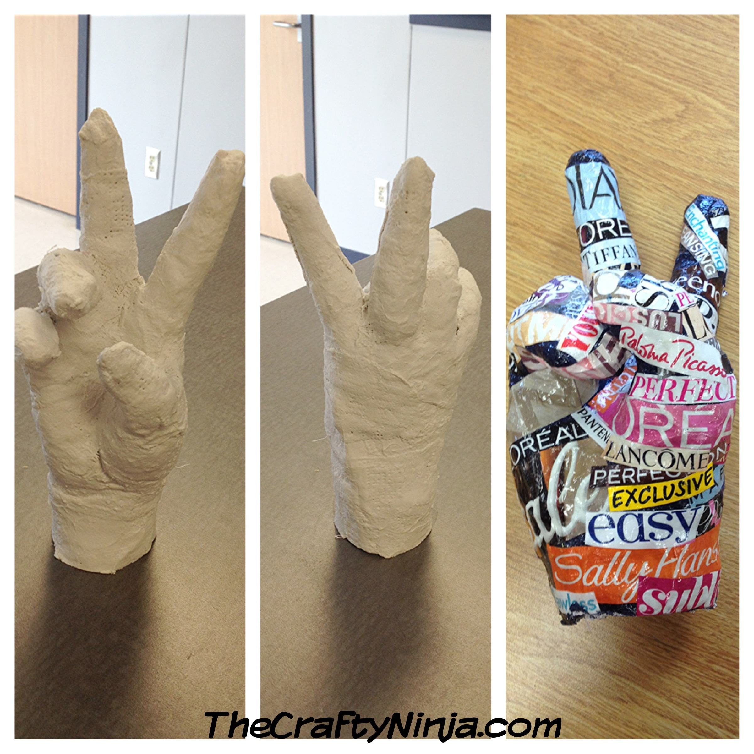 how to make a hand mold with plaster of paris