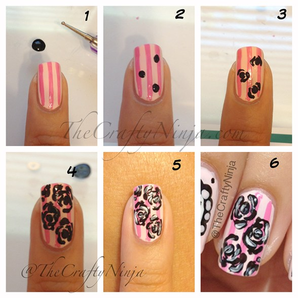 rose nail tutorial