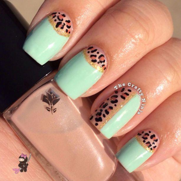 Craftynail: Half Moon Leopard Nails