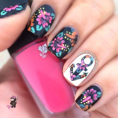 Floral Anchor Nails Flower Anchor Nails