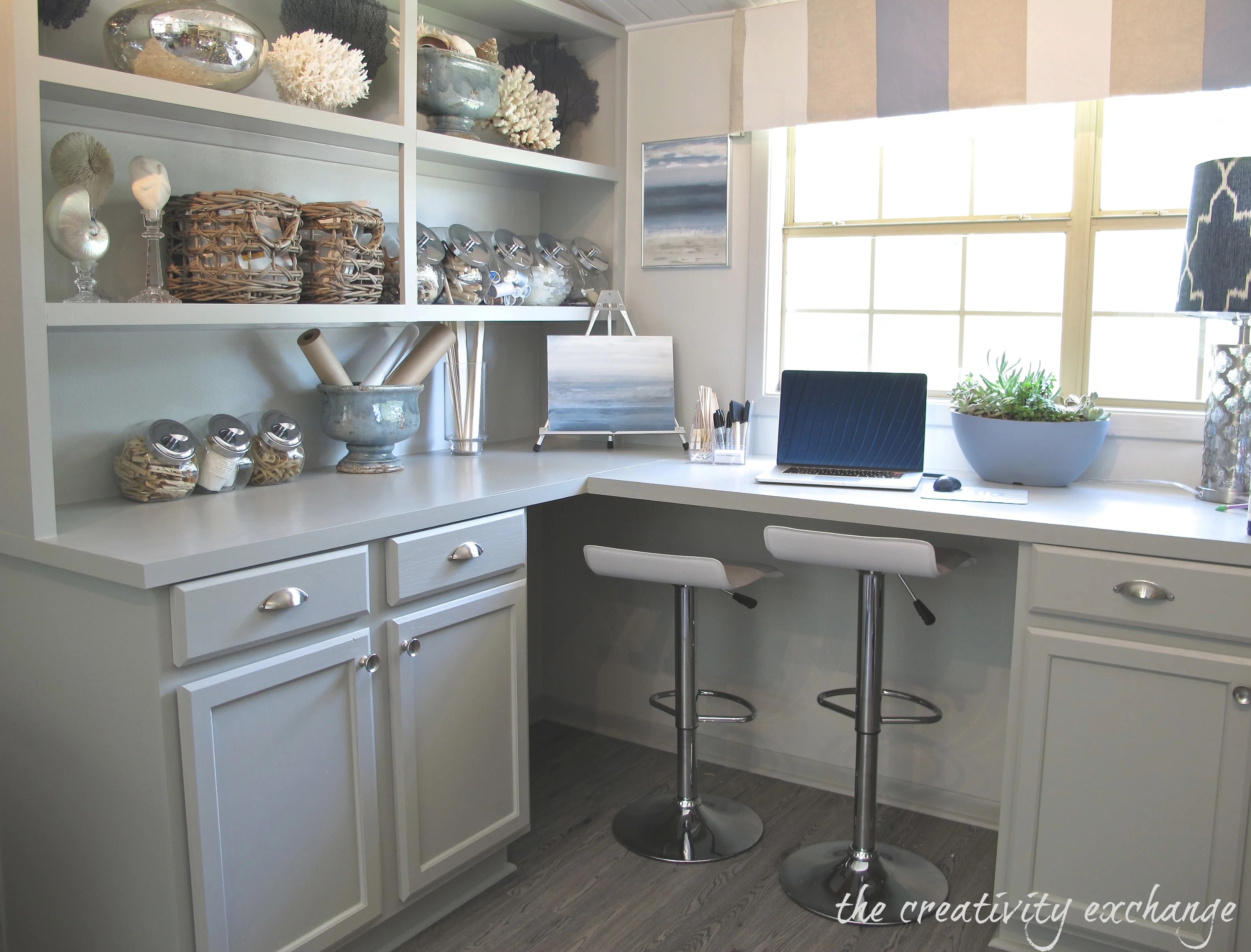 Cabinets painted in Mindful Gray by Sherwin Williams The Creativity Exchange