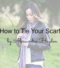 Tip: How to Tie Your Scarf
