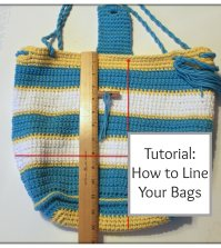 Tutorial: How to Add a Lining to Your Bags!