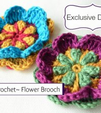 Exclusive Design: Overlay Crochet Flower Brooch Pattern