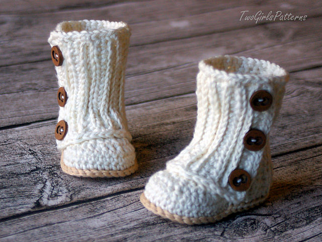 Knitting Pattern For Baby Wellies : Baby Boots   Crochet Patterns for Little Feet   The Crochet Cafe