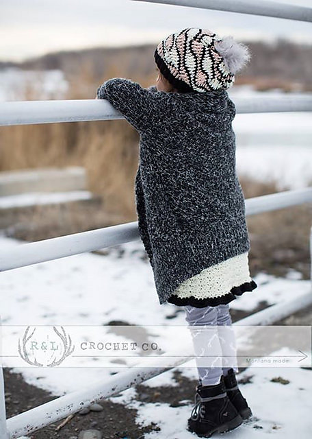 Crochet Waves Slouchy Hat crochet pattern by la tienda de Paloma