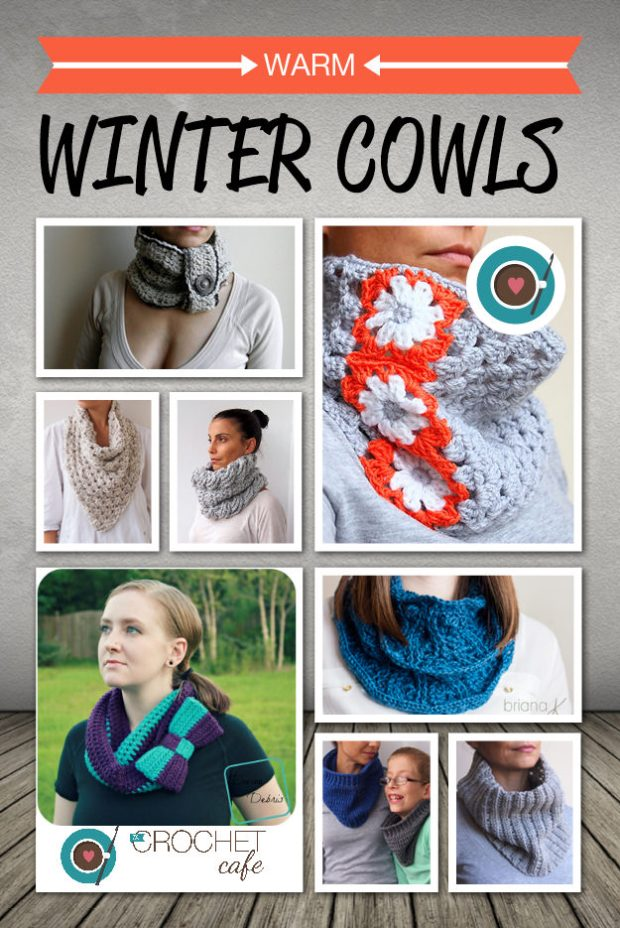 Crochet Patterns for Warm Winter Cowls