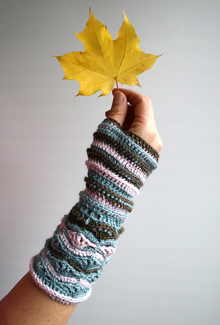 Delicate Fingerless Gloves by Luz Mendoza