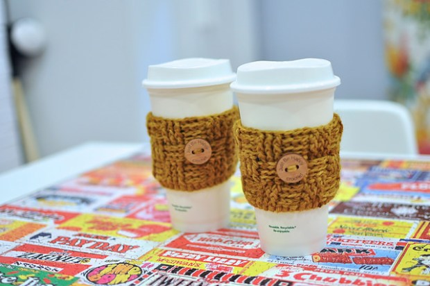 FREE Basket Weave Coffee Sleeve by Just Be Happy Patterns