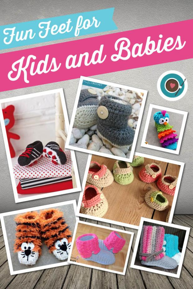 Fun Feet For Kids And Babies crochet patterns
