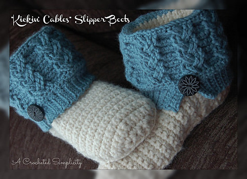 Kickin' Cables Slipper Boots by A Crocheted simplicity