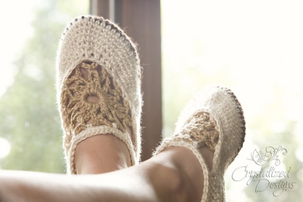 Mandala Slippers by Crystalized Designs