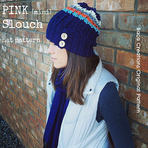 Pink (mini) Slouch by Salena Baca Crochet
