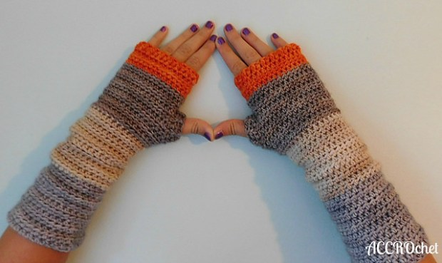Pumpkin Spice mittens by ACCROchet