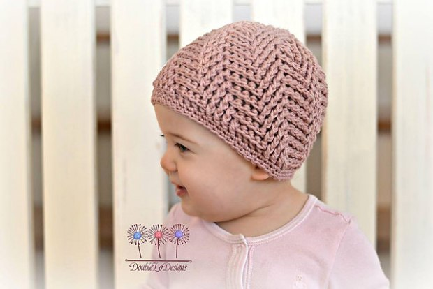 Spiral Herringbone Beanie by Crochet by Jennifer