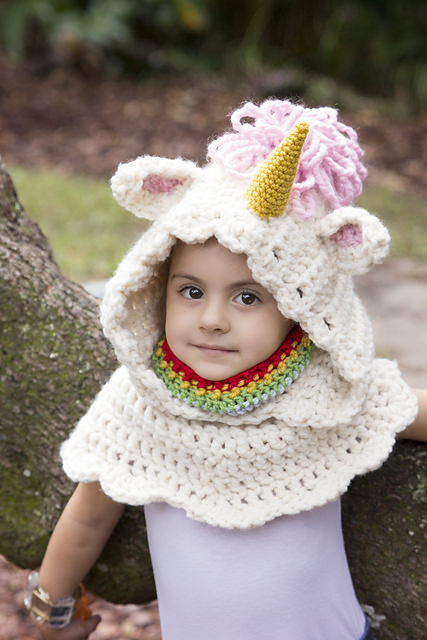 Unicorn Hooded Cowl by BrianaK Crochet