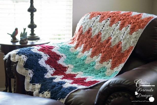 Basket Weave Afghan by Crafting Friends