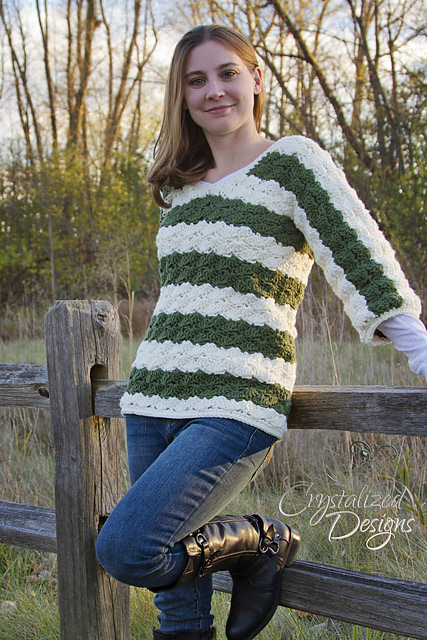 Pam's Pullover by Crystalized Designs