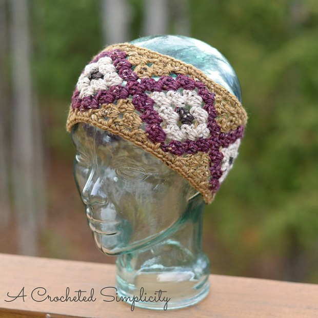 Boho Chic Mosaic Headwarmer by A Crocheted Simplicity