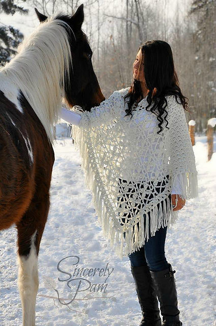 Butterfly Breeze Poncho by Sincerely Pam