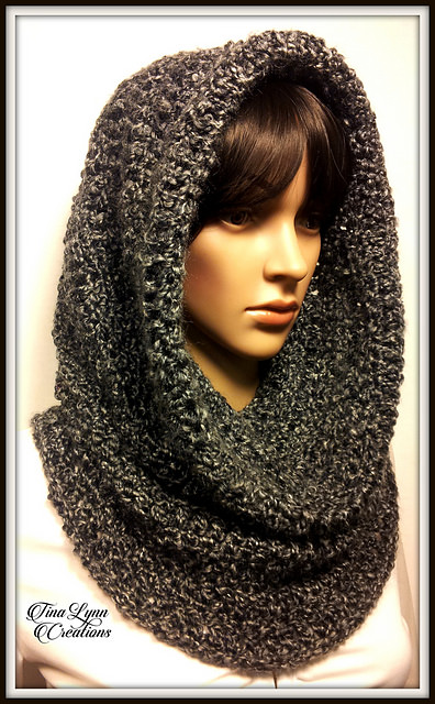 Obsidian Hooded Cowl by Tina Lynn Creations